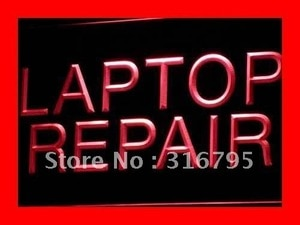 i472 Laptop Repair Computer Notebook LED Neon Light Light Signs On/Off Swtich 20+ Colors 5 Sizes