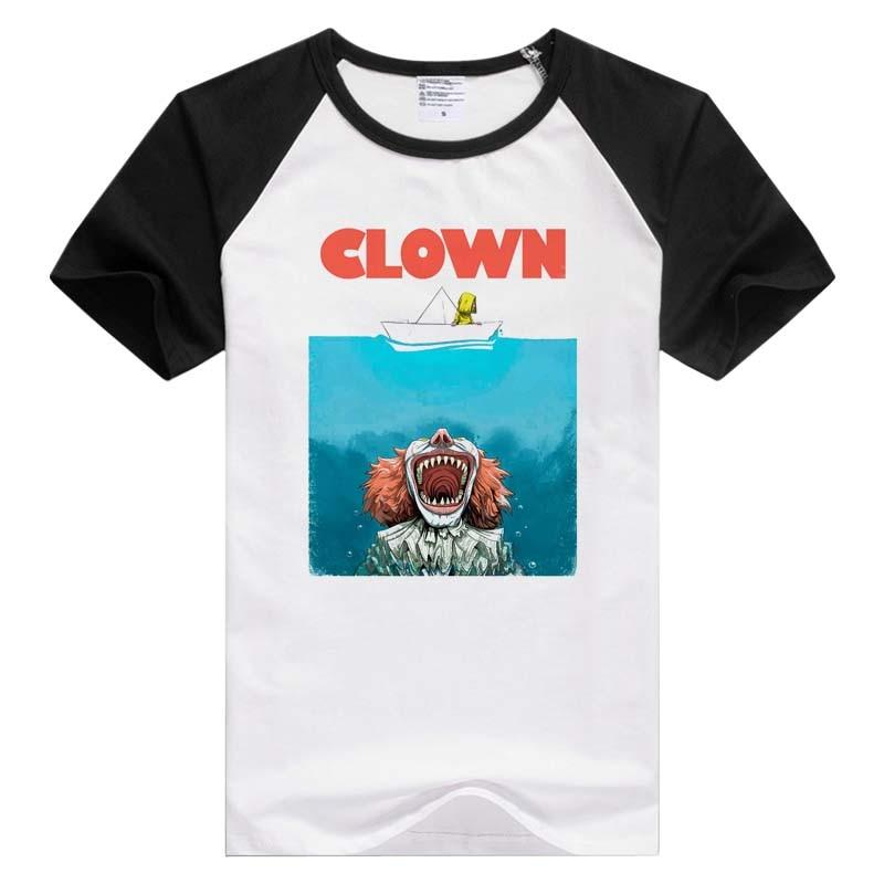 Camiseta casual de manga corta con estampado de moda para hombre de It de Stephen King, divertida camiseta GA785