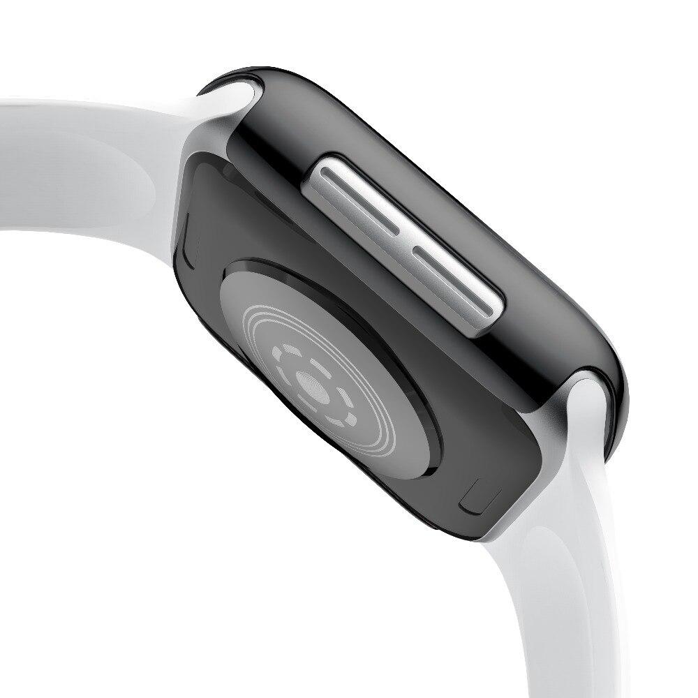 Protector duro de pantalla para Apple Watch Series 5 4 40mm 44mm galvanizado plástico PC para Apple Watch Series 4 5