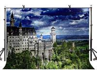 7x5ft German Castle Backdrop German Famous Neuschwanstein Castle Photography Background and Studio Photography Backdrop Props