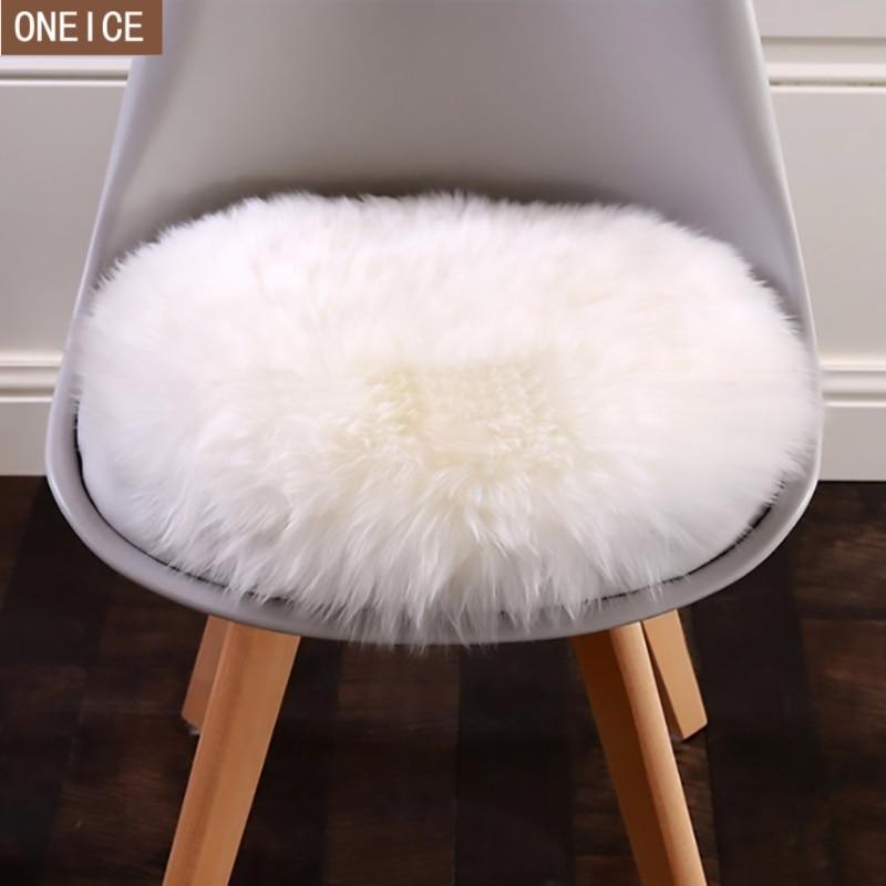 Alfombra de piel de oveja artificial suave de 30*30 cm funda de cojín para dormitorio manta artificial alfombra cálida de pelo largo asiento de piel piso mat