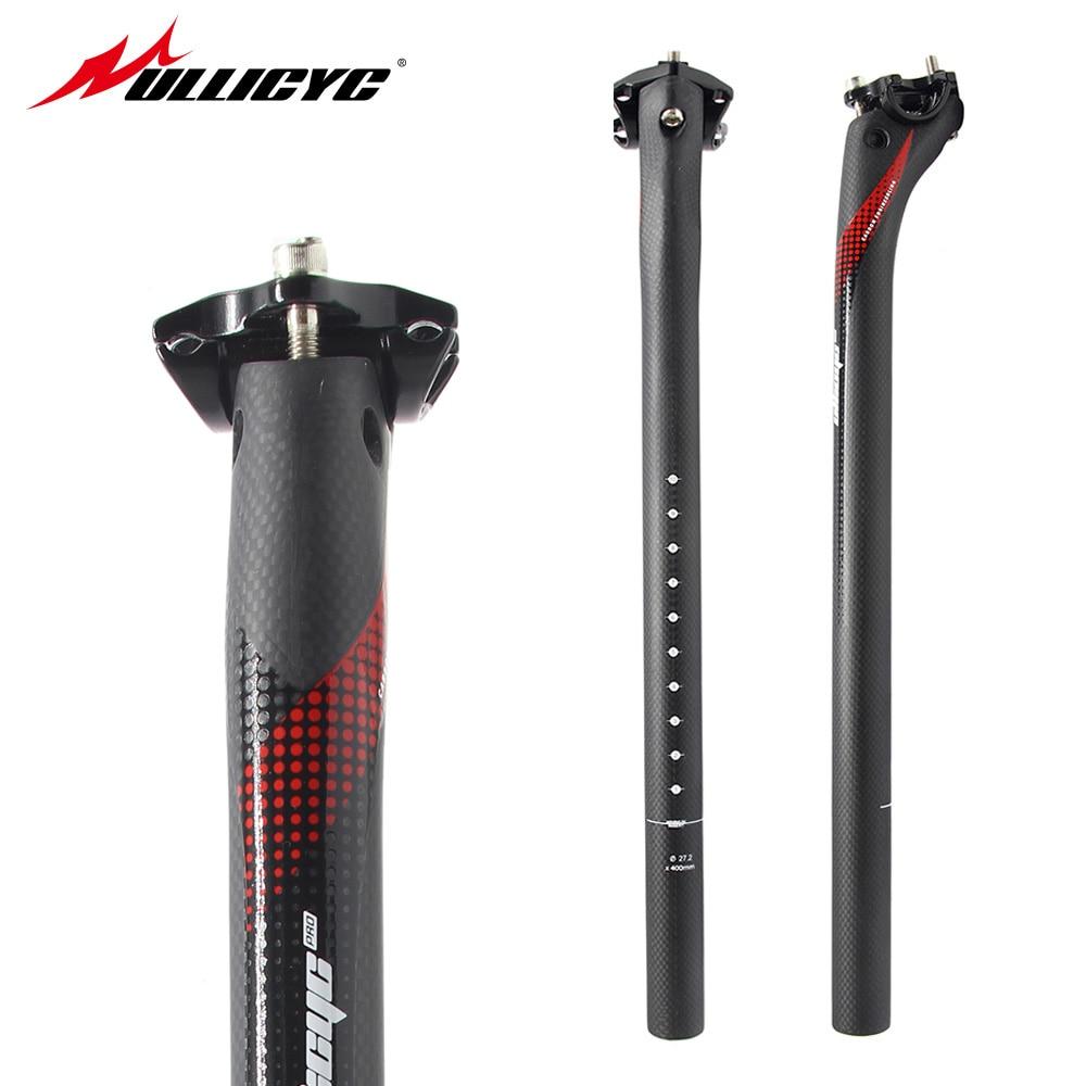 Bicicletas de montaña ullicyc 3K de fibra de carbono mate, tijas de sillín de bicicleta, partes de carretera MTB 27,2/30,8/31,6*350/400, Envío Gratis HP361