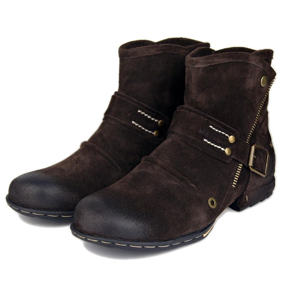 OTTO منطقة ماركة الشتاء الرجال الأحذية العسكرية موضة جديدة جلد طبيعي حذاء من الجلد الطبيعي الرجال جلد الغزال البقر الأحذية رجل بوتاس Hombre