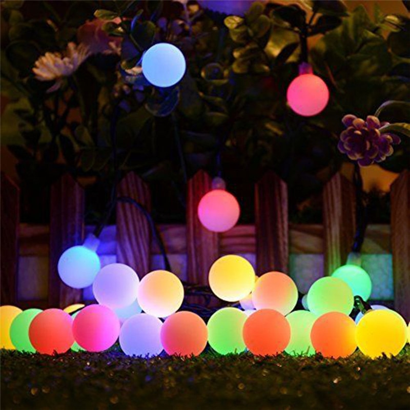 10M 100 LED Solar Lamps String Fairy Lights Garland Christmas For Wedding Garden Party Decoration Outdoor
