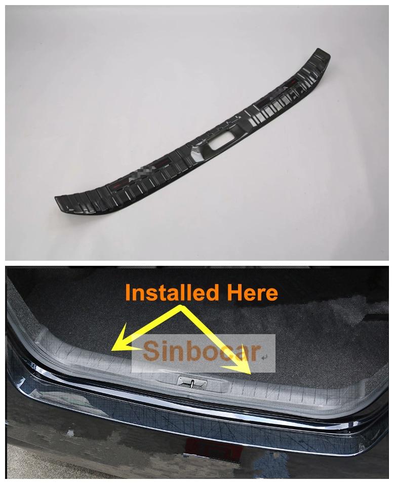 De acero inoxidable de titanio negro interior parachoques trasero placa de umbral de recorte para Nissan Altima 2019 envío gratis