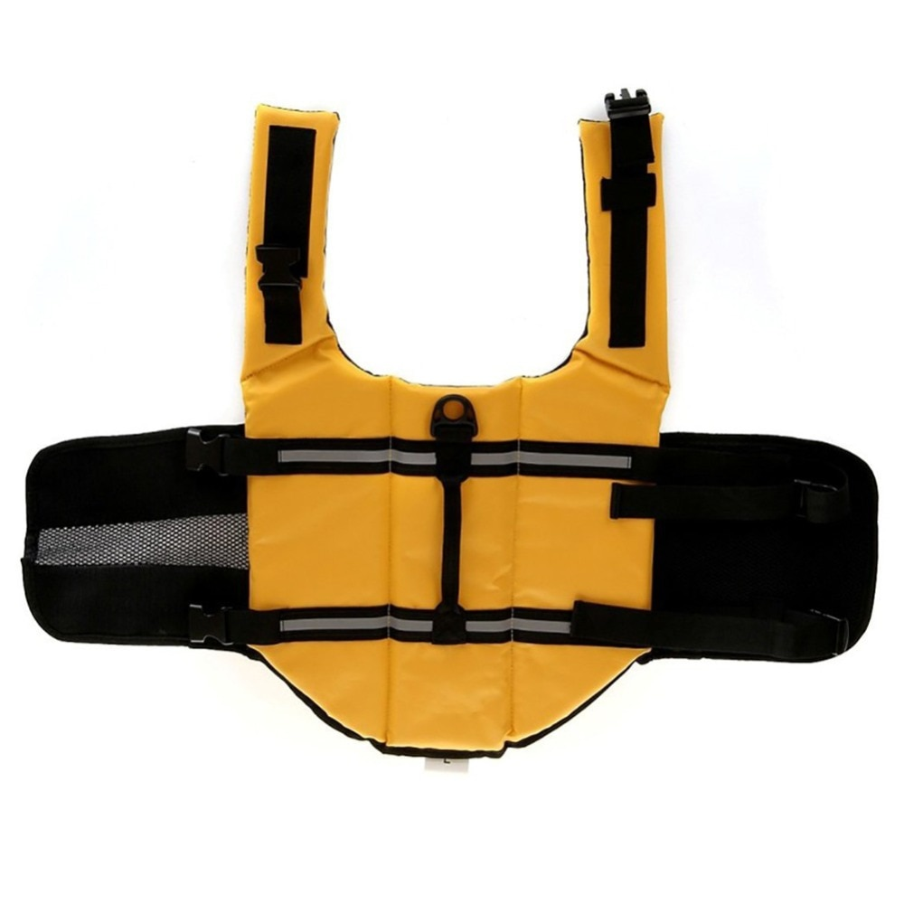 Nicrew, chaleco salvavidas para perros, ropa para mascotas, chaleco salvavidas para nadar, traje de baño para cachorros, surf, chaleco de natación con rayas reflectantes