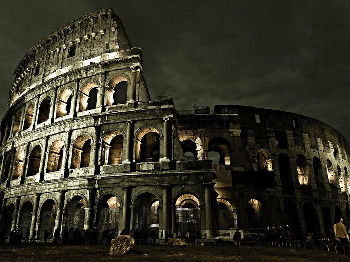 Luzes Da Noite Roma COLISEU Itália 1881B-Adesivos de Parede de Seda Cartaz Luz da Decoração Da Lona