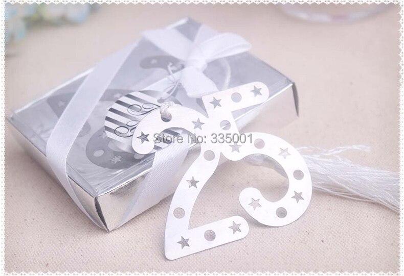 Regalo de recuerdo de fiesta y obsequios para invitados -- 25 aniversarios marcador de boda favor souvenir 30 unids/lote