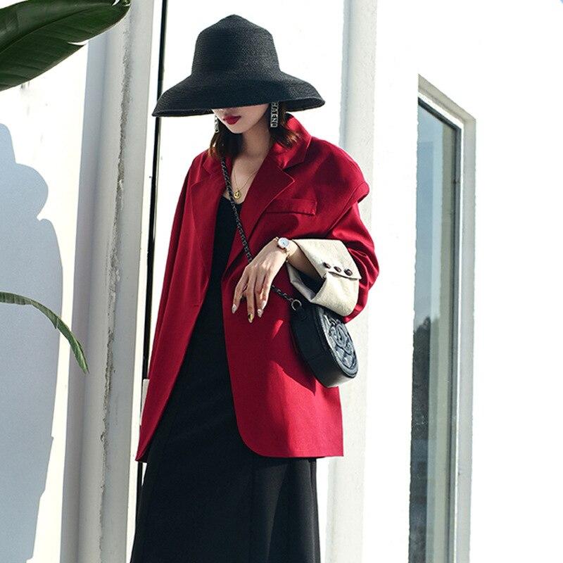 Femmes solide Blazers Cardigan manteau à manches longues femmes blazers et vestes ruché asymétrique décontracté affaires costume Outwear 2019