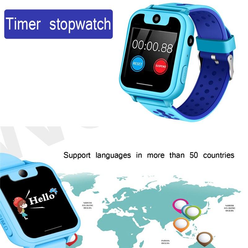 2019 nuevo reloj para niños LPS GPS posicionamiento monitoreo remoto iluminación teléfono de emergencias SOS reloj inteligente para niños hombres y mujeres