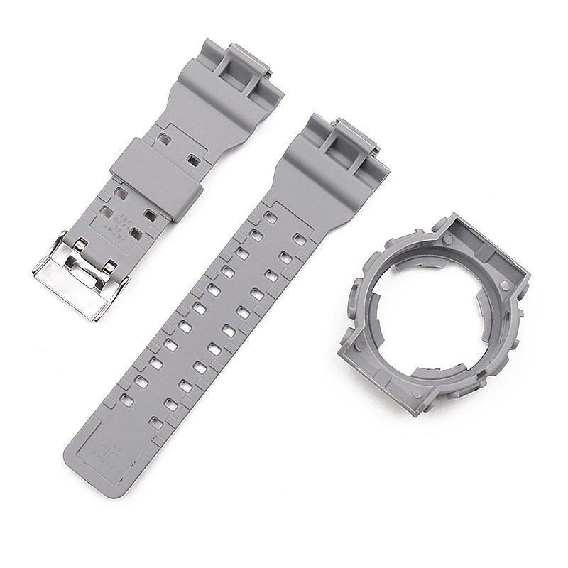 Купить с кэшбэком Camouflage resin strap men's watch accessories pin buckle strap case for Casio CASIO G-SHOCK GD120GD100GA110GA100 men watch band