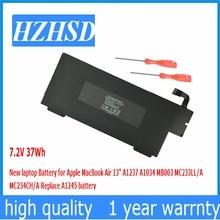 37Wh 7.2 V Nouveau Original batterie dordinateur portable pour Apple A1237 A1245 MacBook Air 13