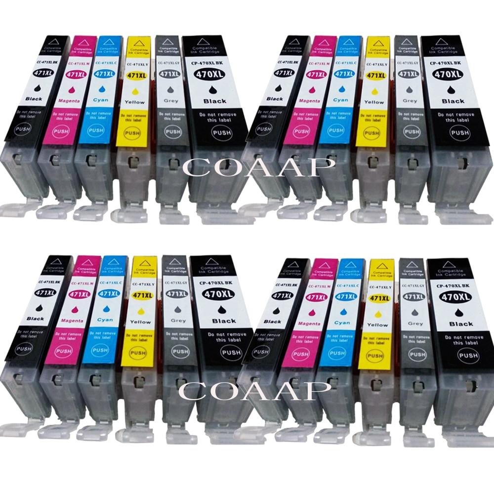 24 PGI470 CLI471 PGI-470BK CLI-471 BK/C/M/Y/GY cartucho de tinta Compatible para CANON PIXMA MG5740 MG8640 TS5040 TS6040