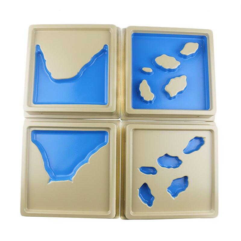 Juguetes de madera Montessori Baby 2ª colección de bandejas con forma de tierra y agua juguetes educativos de aprendizaje temprano para niñas Regalo de Cumpleaños E2464Z