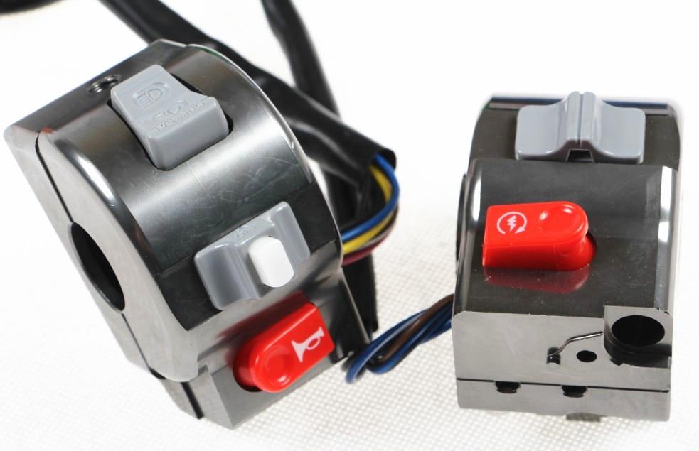 "RPMMOTOR motocicleta eléctrica de aluminio 7/8 ""22mm Control de manillar interruptor de cuerno de luz Universal para Yamaha RSZ CYGNUS-X BWS 125"
