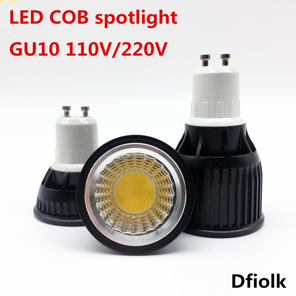 High quality 6W 9W 12W GU10 LED Bulbs Light 110V 220V dimmable Led Spotlights Warm/Cool White GU 10 LED downlight free shipping