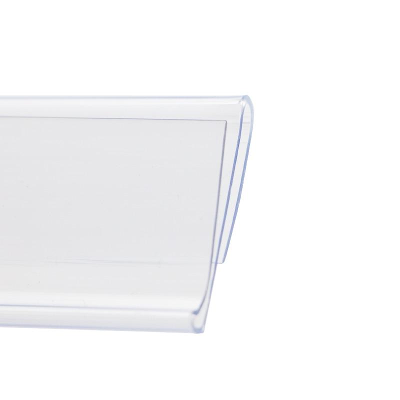 Plastic Pvc Shelf Data Strips S N Snap On Mechandise Price Tag Display Label Sign Holder Name Card Holder U Ticket Strip 100pcs