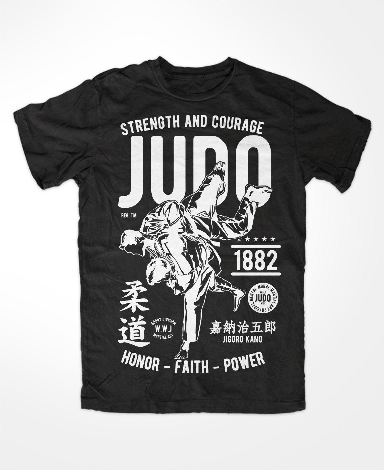 El más nuevo 2019 de verano de manga corta de moda de algodón camiseta de Judo Kampfsport de Muay Thai Ringen Klassik y cerveza vieja escuela lucha Outlaw Boxen Judokat camisa
