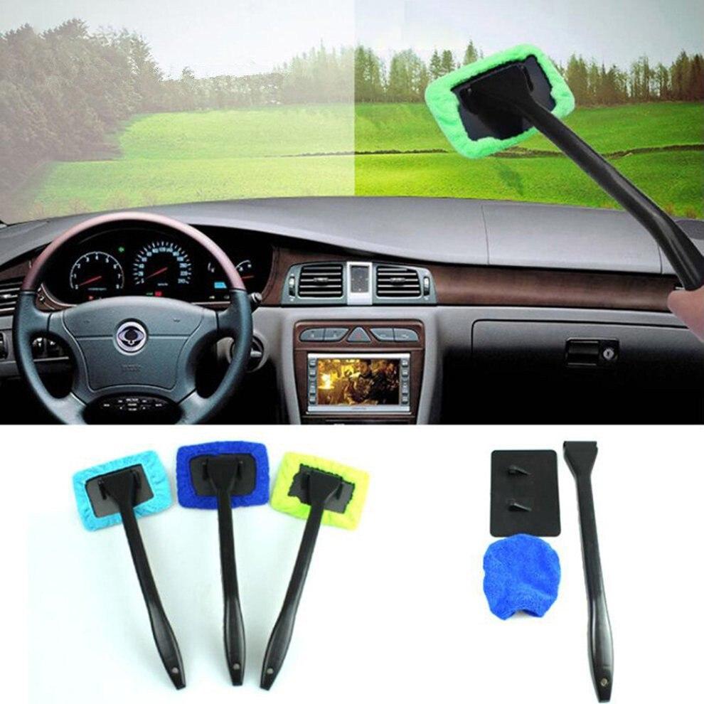 מיקרופייבר ארוך ידית רכב לשטוף מברשת רכב מכונת כביסה אוטומטי חלון שמשה קדמית נקי בד רכב כביסה כלים רחיץ ברק שימושי