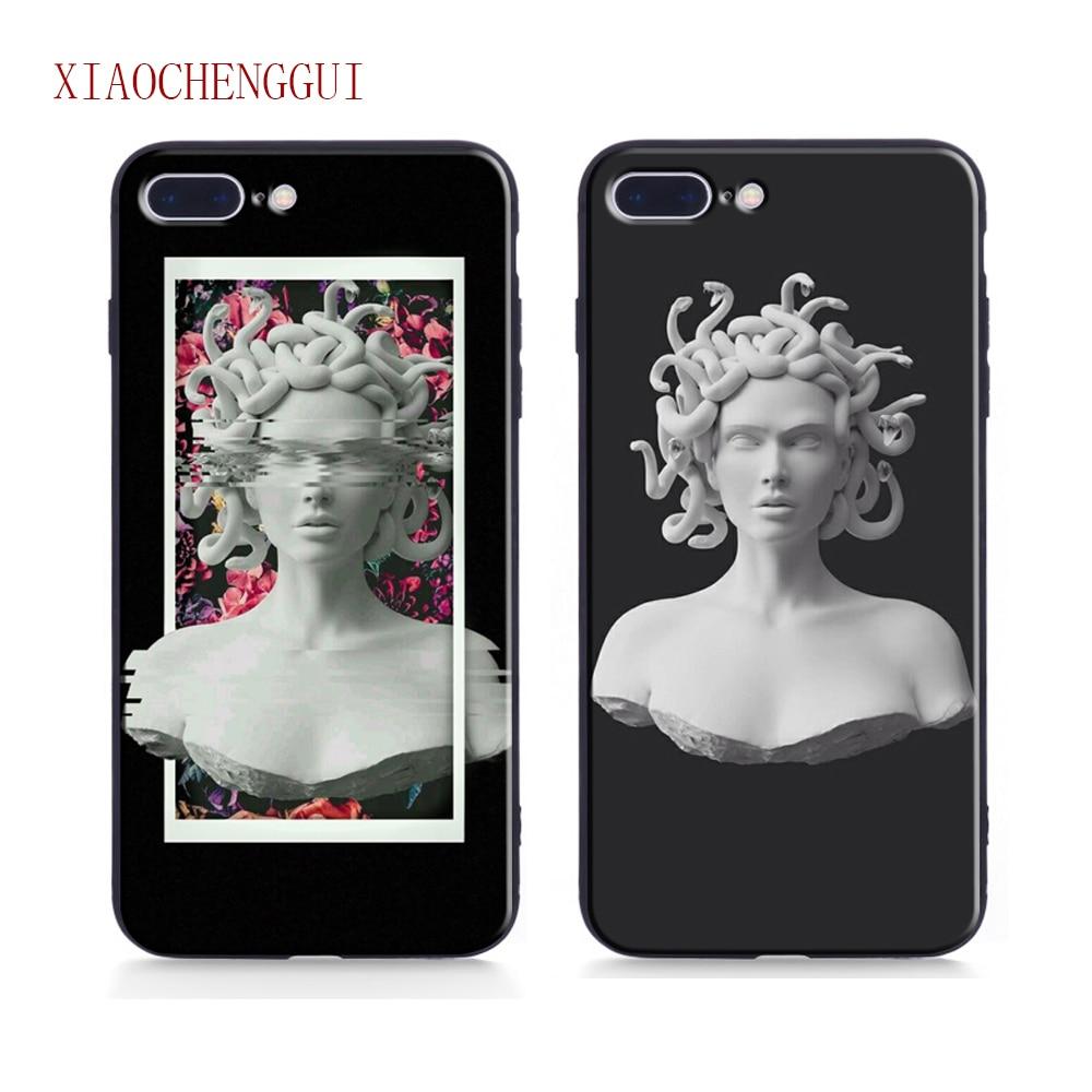 Чехол для iphone 7 Medusa Vaporwave Glitch Art Coque, мягкий чехол для телефона, чехол для IPhone 6 6s 8 7 Plus X XR XS 11 pro MAX