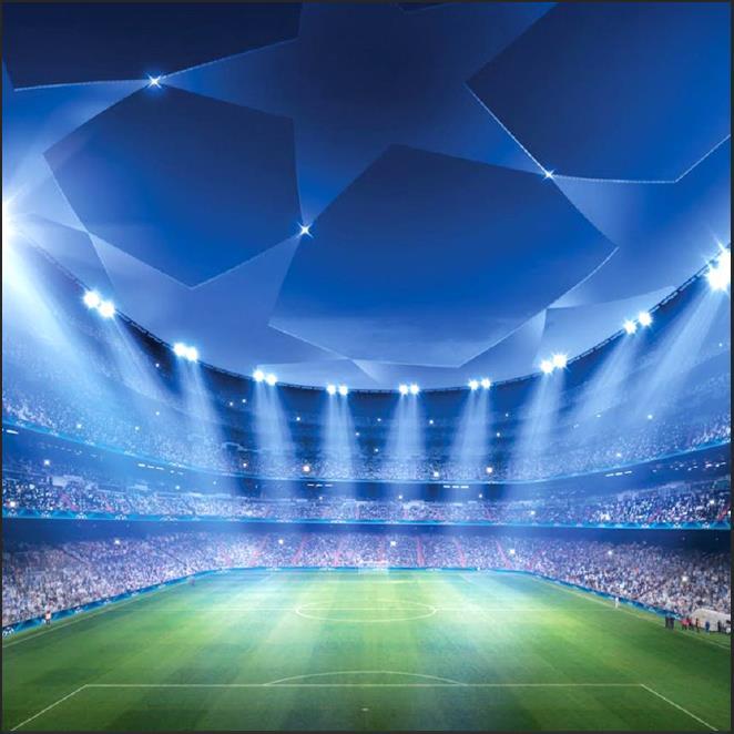 Spots led Light Football Soccer Field Stadium Platform  Backgrounds Vinyl cloth Computer printed wall photo backdrop