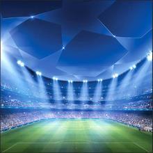 Spots lumière LED Football terrain de Football stade plate-forme arrière-plans vinyle tissu ordinateur imprimé mur photo toile de fond