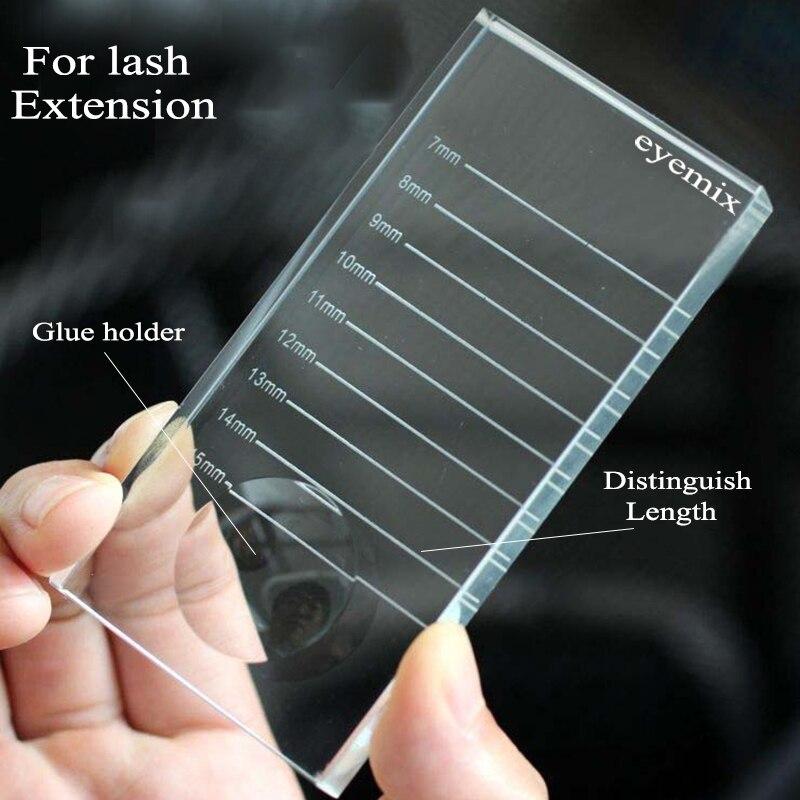 2 в 1 для наращивания ресниц, клей из кристаллического стекла, поддон, новая керамическая плитка для ресниц, индивидуальные держатели для наращивания ресниц
