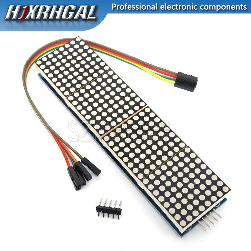 1PCS MAX7219 דוט מטריקס מודול עבור Arduino מיקרו 4 באחד LED תצוגה עם 5P קו MAX7219 תצוגה 8x8 מטריקס אדום