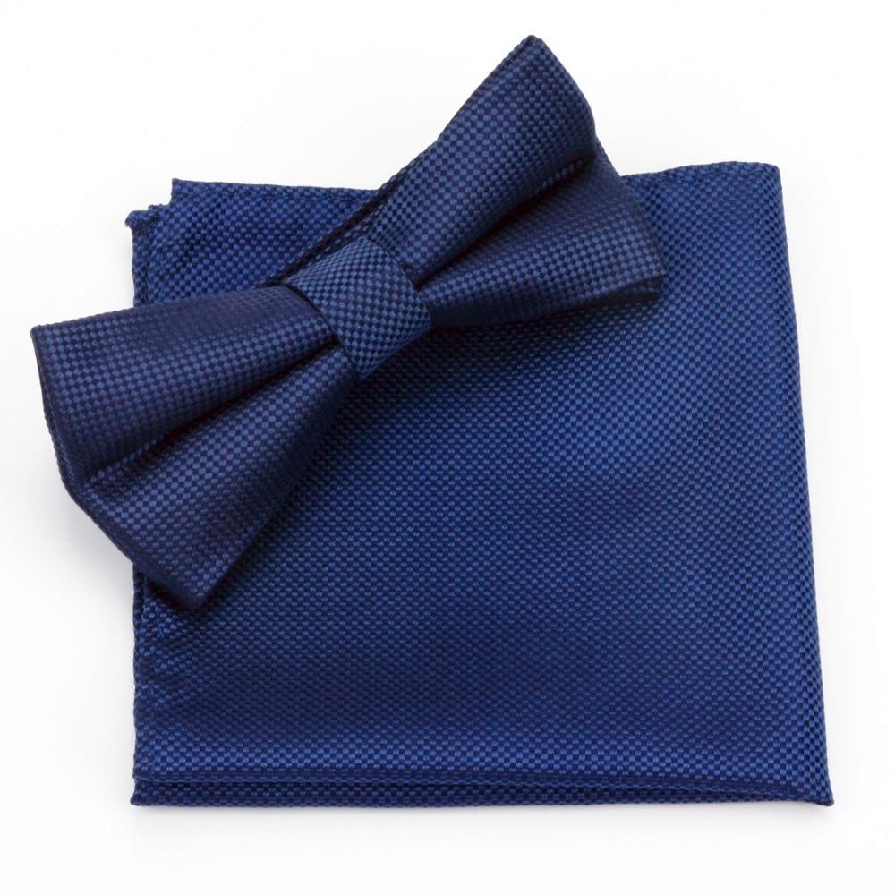 100% Natural Silk Plaid Bow Tie Pocket Square Handky Set Waterproof Jacquard Necktie Handkerchief Men Gift