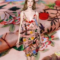 beijing dream of spring digital printed silk natural organza plush fabric for dress shirt tecidos a metro tela diy tissu cheap