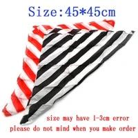 6 pcs zebra magic silk 4545cm magic tricks accessory professional magician trick prop
