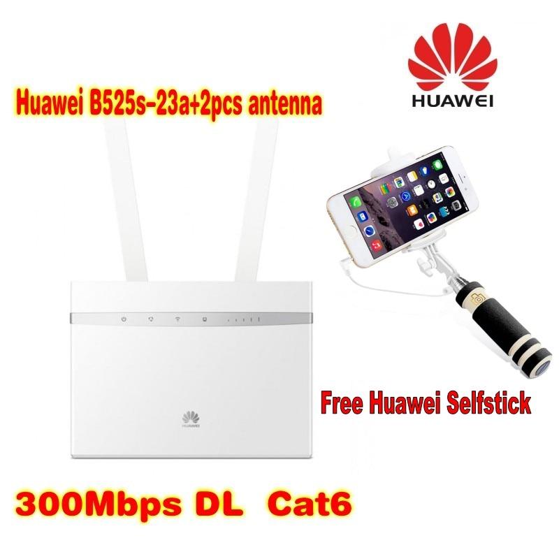 Huawei B525-23a LTE FDD800/900/1500/1800/2100/2600Mhz TDD2600Mhz(B1/3/7/8/20/32/38) 4G+ CAT6 300Mbps VOIP VPN  plus free gift