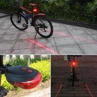 waterproof bike taillight cycling safety 5 led2 laser rear lamp bicycle light 7 cool flash mode led bike warning tailights