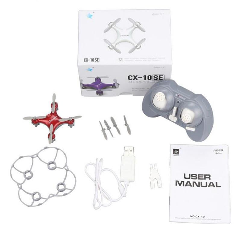 Helicóptero Rc Cheerson CX-10SE Mini Drone CX-10 Quadcopter actualizado Nano Drons Quadrocopter juguetes para niños helicóptero Brinquedo