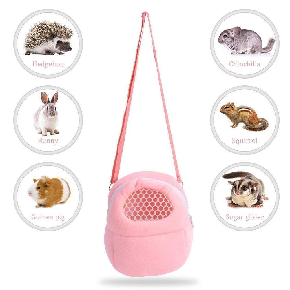 Transportín para mascotas pequeño Hamster Chinchilla portátil transpirable viaje bolsas para mantener calientes conejillo de indias bolsa de transporte