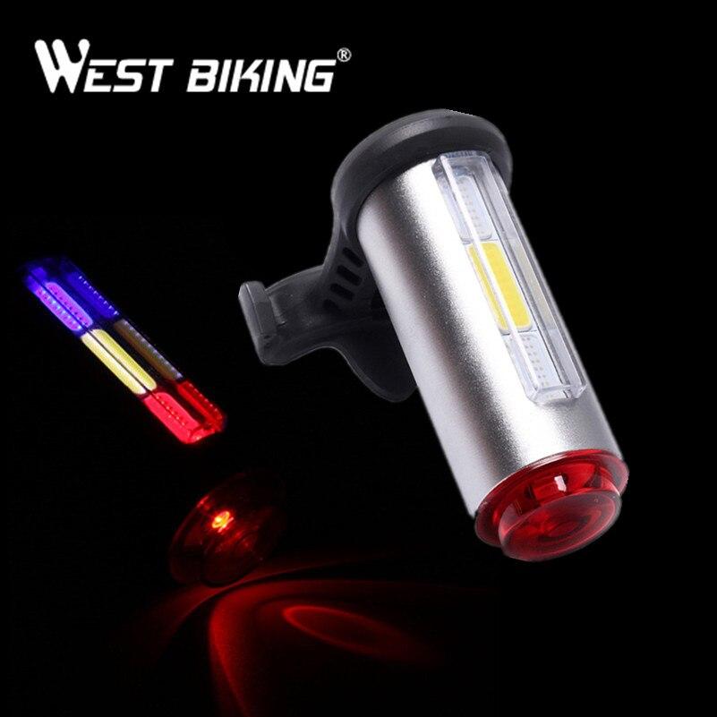 Westing ciclismo bicicleta carga USB Luz láser linterna bicicleta seguridad lámpara de advertencia Seatpost Tailights ciclismo TailLamp trasero