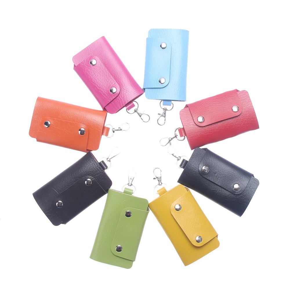 ISKYBOB, gran oferta, cuero de PU, los titulares de ama de llaves, llavero de coche, bolsa Porta llaves, funda, llavero, BILLETERA, cubierta, 8 colores, envío gratis