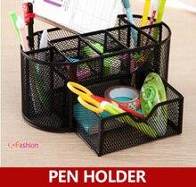 Mesh Metal Drawer-style Desk Organizer , Metal Large Capacity Colorful Pencil Holder , Pen Holder