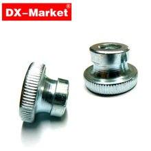 M4 écrou moleté, 100 pièces DIN466-B écrous moletés, M4 rond écrou épais DX Marché Écrou personnalisation, B009