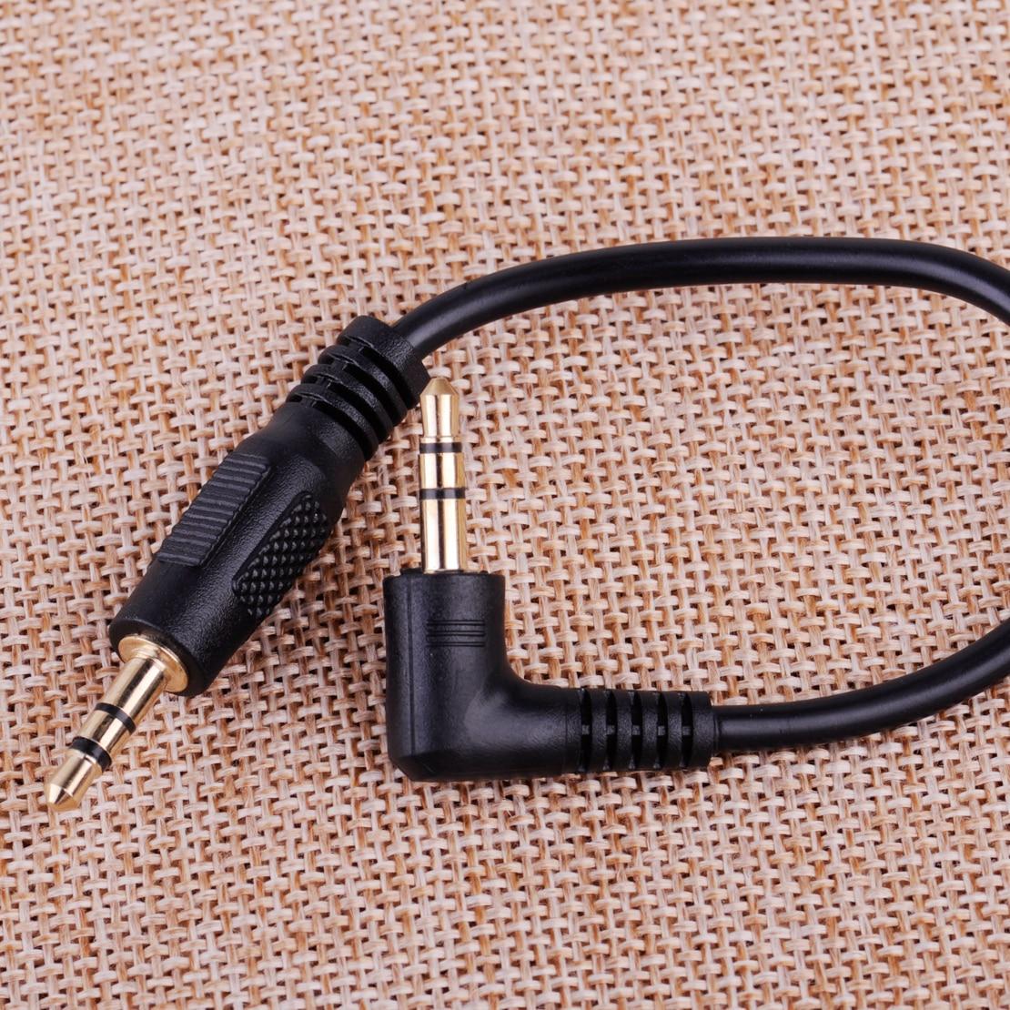 CITALL Car 10 см Короткий Правый Угол папа-папа 3,5 мм Aux Джек сотовый телефон динамик аудио кабель адаптер