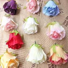 Mini pomme de roses artificielles 12 pièces   Fleur artificielle pour mariage, décoration olympique de maison, ornement artisanal multicolore 6 cm