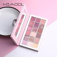 MIAOOL diamant paillettes fard à paupières Palette 18 couleurs chaud dégradé rose ombre à paupières maquillage mat Pigments Nude fard à paupières cosmétiques