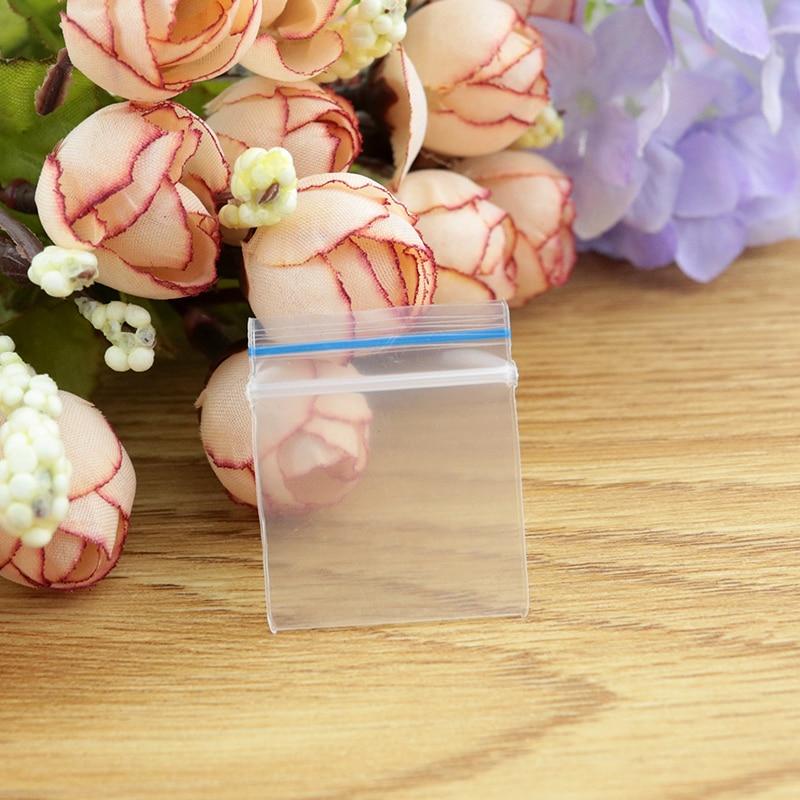 البلاستيك هدية حقيبة الجملة 1000 قطعة/الوحدة 3.8x4 سنتيمتر واضح البلاستيك PE البريدي قفل مجوهرات هدية التعبئة والتغليف تخزين أكياس