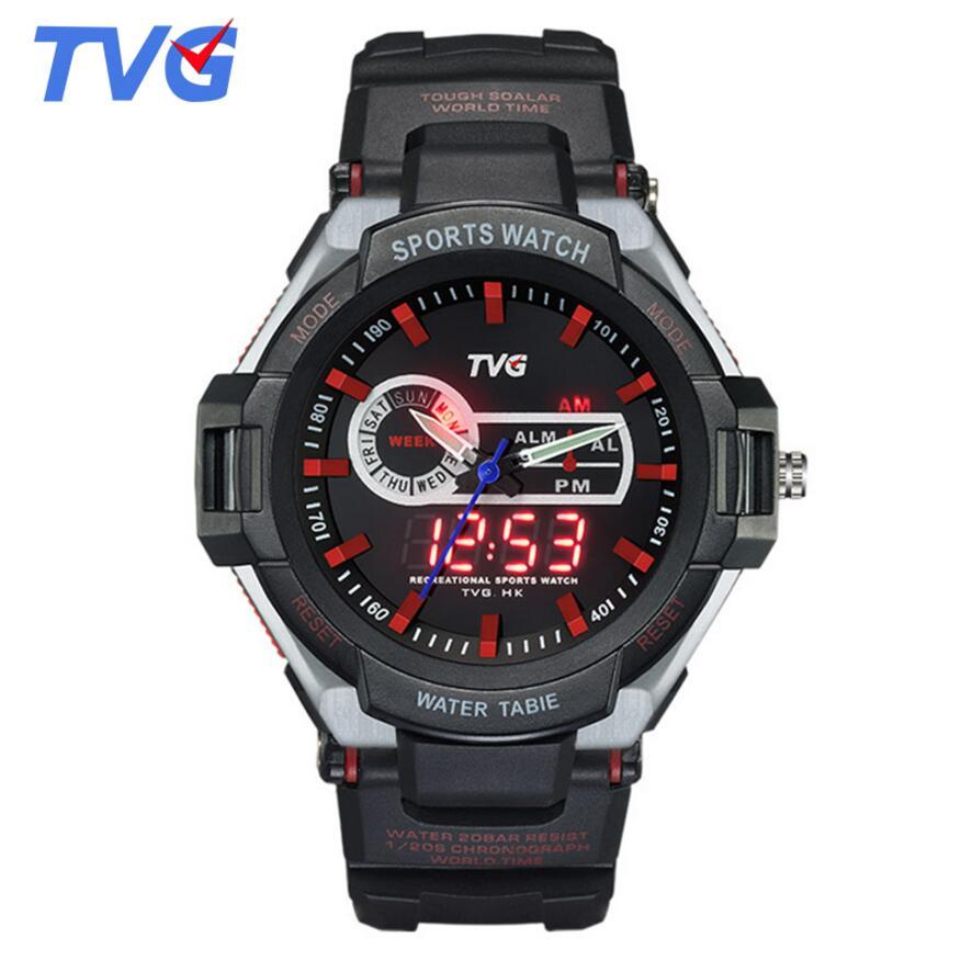 New S Shock Watches Luxury Brand TVG Rubber Strap Analog Digital Wrist Watch Fashion Men Sports Watc