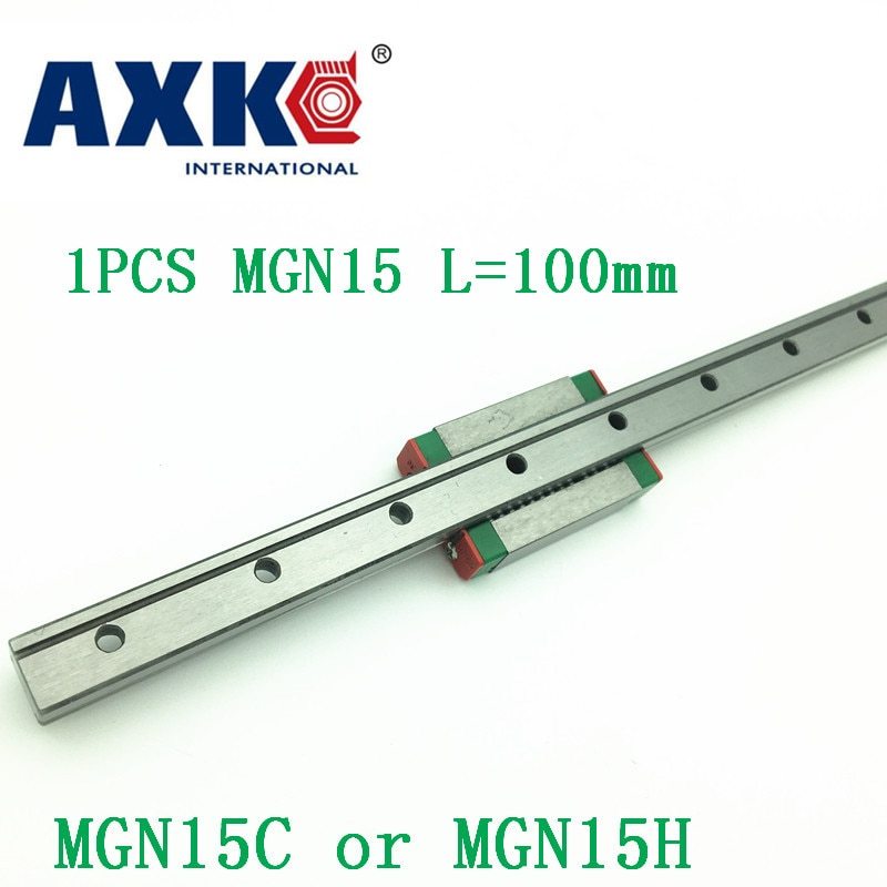 Guía lineal de 15mm Mgn15 L = 100mm vía de riel lineal + Mgn15c o Mgn15h carro lineal largo para Cnc X Y eje Z