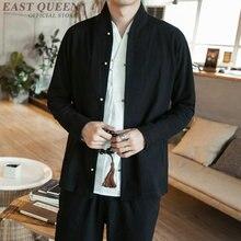 Vêtements chinois traditionnels pour hommes hommes chinois mandarin col chemise blouse wushu kung fu tenue chine chemise hauts KK1985