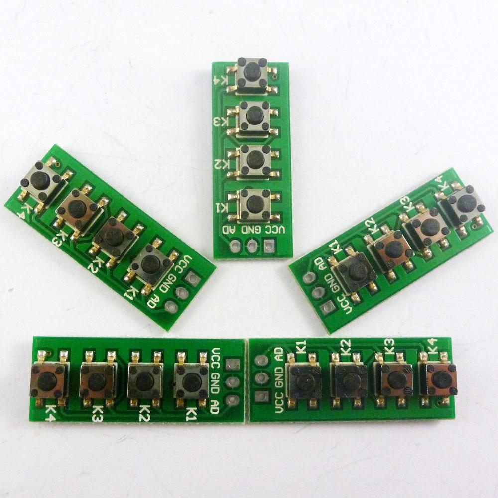 5 peças com uno r3 due sketch! Ad teclado 1 ad porto controll 4 botões matriz teclado módulo de desenvolvimento para arduino adc
