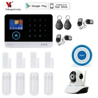 Yobang     systeme dalarme de securite domestique sans fil  wi-fi  GSM  avec detecteur PIR  capteur de porte