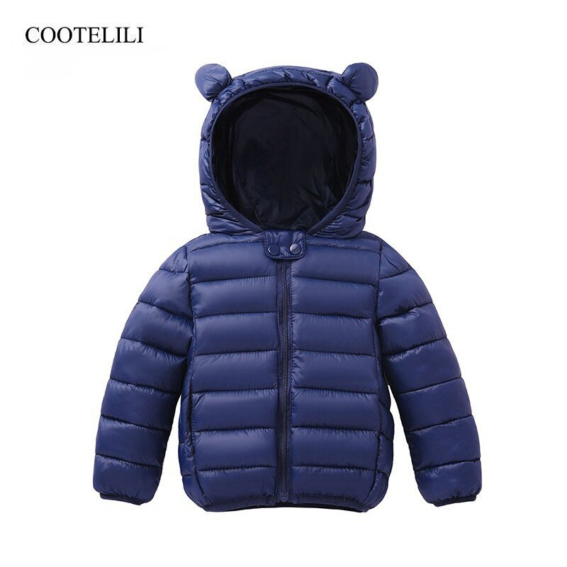 COOTELILI lindo oso Parkas para niños chaqueta de invierno para niñas niños bebés abrigo invierno niños abrigos cálidos niños chaqueta bebé