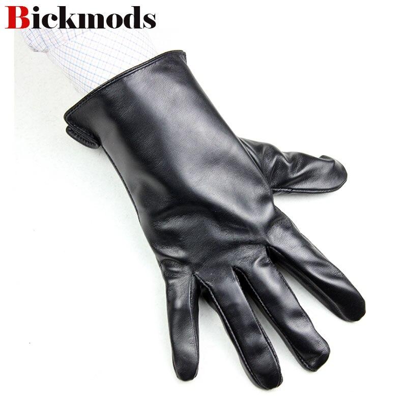 Перчатки мужские кожаные, тонкие однослойные перчатки из овчины без подкладки, для вождения мотоцикла, на весну и осень